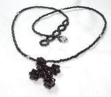 Jet Cross Beaded Chain by sweetbabykit