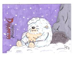 SLEEPING YETI by Robomonkey82