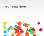 Vector Colorful Splashes Background Banner Design by 123freevectors