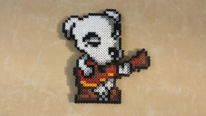K.K. Slider - Animal Crossing Perler Bead Sprite by MaddogsCreations