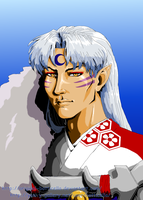 Sesshomaru Portrait II by Original-Botticella