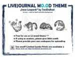LJ mood theme - snow leopards by TaniDaReal