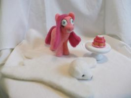 Pinky Pie Pinkamena needle felted plush commission by imaginaryfriends2012