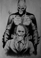 Batman and Joker by allonsyx
