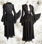 black wrap dress lace, Somnia Romantica by M.Turin by SomniaRomantica