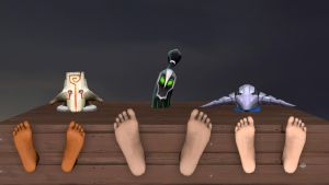 Masks and Feet by wantwon