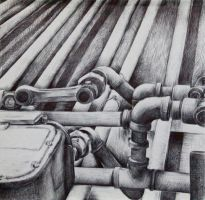 scratched pipes by momo070391