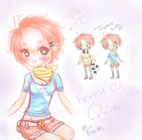 My Newest OC Quinn Doodle Bump by MissEvette