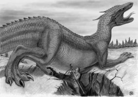 Glaurung and Turin by Hoch-Spannung