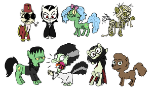 83 - Universal Monster Ponies by Pones-By-Corwin