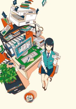 Ms. Moriwaka of accounting department by ukkiuki