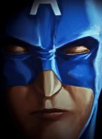 Captain America close up by Marshal91