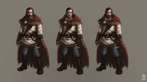 Character Concept Practice by EdBourg