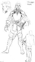 Fandral redesign sketch by SpiderGuile