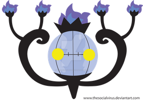 609 Chandelure by TheSocialVirus