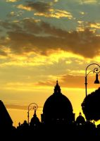 sunset over Vatican 4 by mgv4