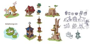 Elf Village House Designs by BettyKwong