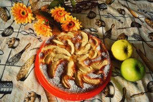 Apple cake by 14th-division