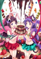 happy my birthday with elsie and haqua by gin-1994