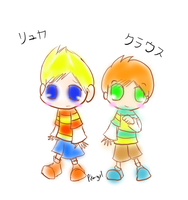 Chibi Lucas and Claus Doodle by Pikmingirl
