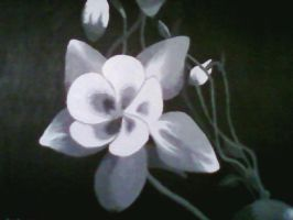 Columbine painting by Midnight--Comet