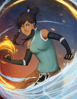 Commission - Korra by nymre