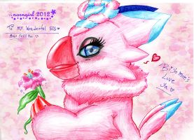::Biyomon - Gift for Sis 2011:: by norngirl