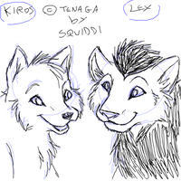 Kiros and Lex doodle by StePandy