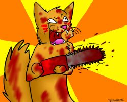 Chainsaw Cat by xXSkyblazeXx
