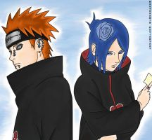 Pein and Konan II by MasterAmin