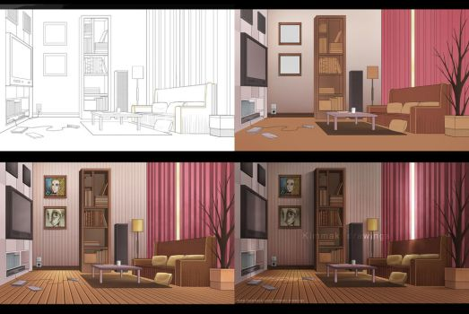 Step by step - Background by mangaka-Kim-chan