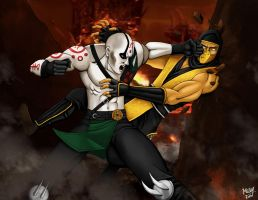 Scorpion vs Quan Chi 2 by Grace-Zed