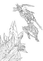 Monster Hunter Lineart (Unfinished) by DragonicHeaven