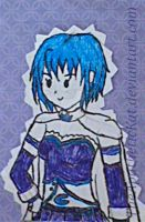 Sayaka Doodle by TheApatheticKat