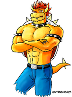 Bowser In Jeans II by Nintendude21