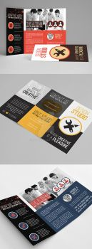 Creative Multipurpose Trifold Brochures Templates by env1ro