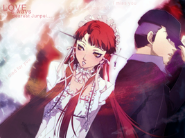 Junpei and Chidori by PhantomNagas