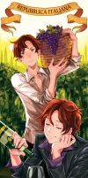Hetalia Bookmark ITALY by tsulala