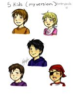 5 kids by huntersparda