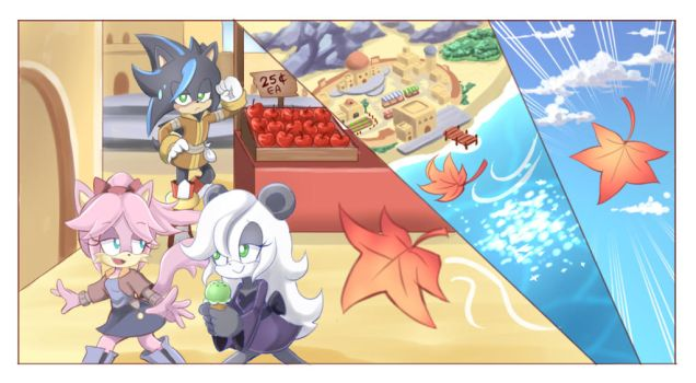 Sonic FC Commission freebies by PencilTales