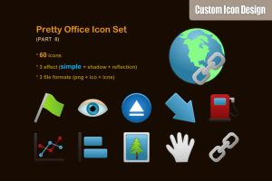 Pretty Office Icon Set part 8 by customicondesign