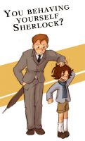 Mycroft and Sherlock by Arkham-Insanity