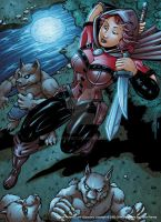 Simmons Scarlet Huntress colors by seanforney