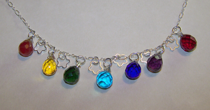 Rainbow Chakra Crystal Necklac by mymysticgems
