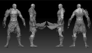 Kratos - Zbrush by LegionxD