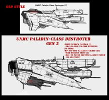 Contention: UNMC Destroyer Gen 2 concept by Malcontent1692