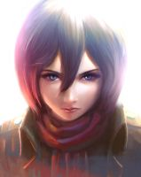 Mikasa Portrait by TheOrckid