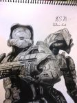 Master Chief and  Arbiter from Halo 3 by Victoria-Creed