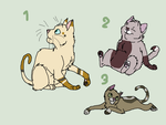 Cat adoptable batch OPEN 5-10 pnts by bananas1607