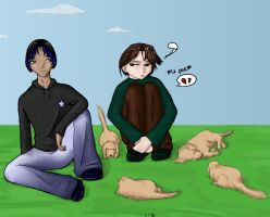 Puppies and Bois by linzi-chan